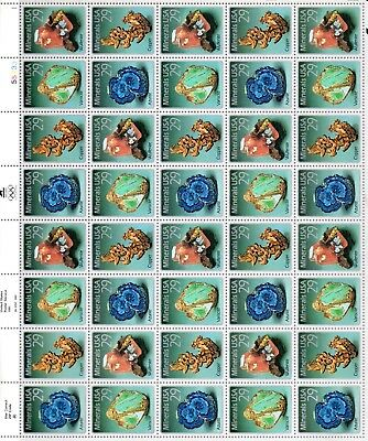 US #2700-2703 29¢ Minerals, Sheet of 40, MNH, VF - XF, Check the Picture