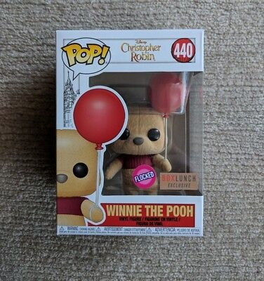 Winnie The Pooh Flocked Funko Pop -  Box Lunch Exclusive! Rare!