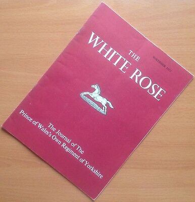 Original Nov. 1975 British  Regimental Journal: The White Rose, Incl. N. Ireland