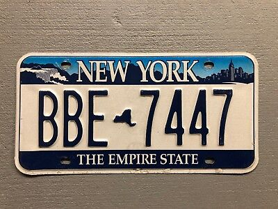 NEW YORK EMPIRE STATE LICENSE PLATE  Niagra Falls BBE-7447