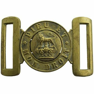 Victorian British Army Issued Infantry Interlocking Brass Belt Buckle - VC36
