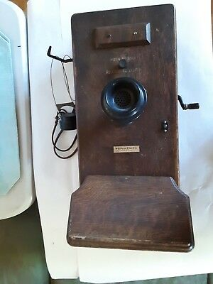 Antique Western Electric Wall Crank Telephone 5 magneto spare box included