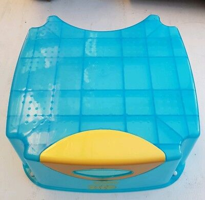 Blue Toddler Step Stool With Rubber Feet