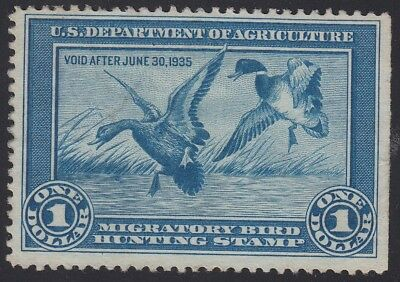 TDStamps: US Federal Duck Stamps Scott#RW1 $1 Unused NG CV$175.00