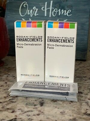 Rodan and + Fields Enhancements MicroDermabrasion Paste 24 Packets 5ml