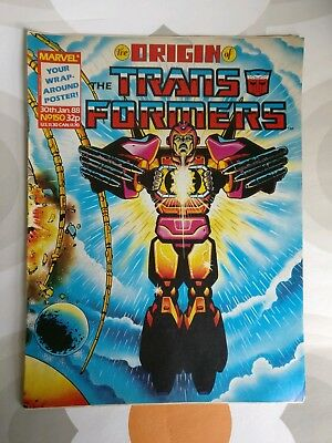 Transformers Comics G1 UK 1988 Issue 150 Origins of the Transformers