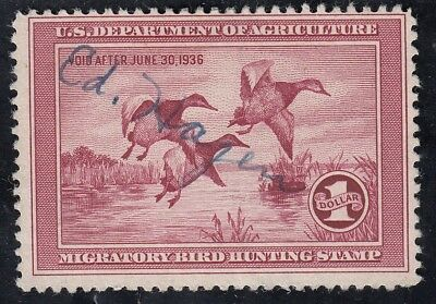 TDStamps: US Federal Duck Stamp Scott#RW2 $1 Used CV$160.00