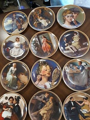 Norman rockwell plates rediscovered women