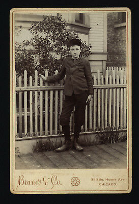 This Boy From Chicago Sure Looks Cocky!  Circa 1900 Cabinet Photo