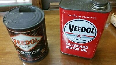 veedol oil cans