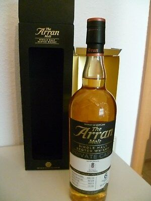 Arran 6 years  60,8% Peated Bourbon Barrel  Cask Strength Single Malt Whisky 0,7