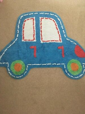 Mothercare Car Toweling Rug Washable