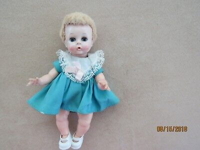 "1959 Madame Alexander 8"" Little Genius Doll Vinyl w/HP Head - VGC Re-dressed"