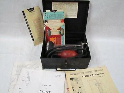 Bacharach Fyrite Co2 Indicator Complete In Original Metal Box With All Papers.