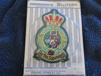 Soesterberg Wolfhounds Usaf Denmark 32Nd Fighter Squadron Patch On Denmarks Card