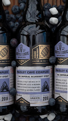 BOTTLE LOGIC x GREAT NOTION PAISLEY CAVE COMPLEX BLUEBERRY S'MORE STOUT PASTRY