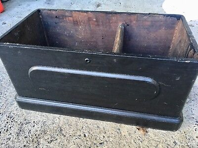 Antique 19th C Small Pipe Sailor Pine Painted Toy Storage Trunk Keepsake Box