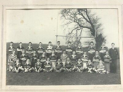 1930 Photograph: Old Veseyan Rugby Football Club RFC ~ Sutton Coldfield Veseyans