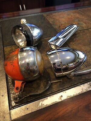 Vintage Bicycle Light Lot Hawthorne Elgin Delta Colson Roadmaster CWC Schwinn