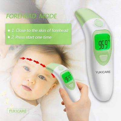 Ear and Forehead Baby Thermometer, YUKICARE Infrared Digital Medical Clinical In