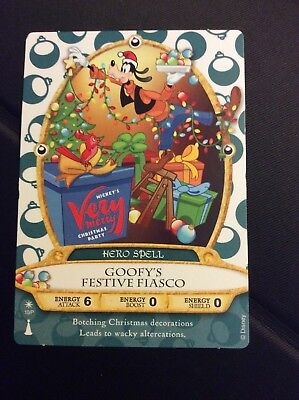 GOOFY Mickeys Very Merry Christmas Party Sorcerers Of The Magic Kingdom Card