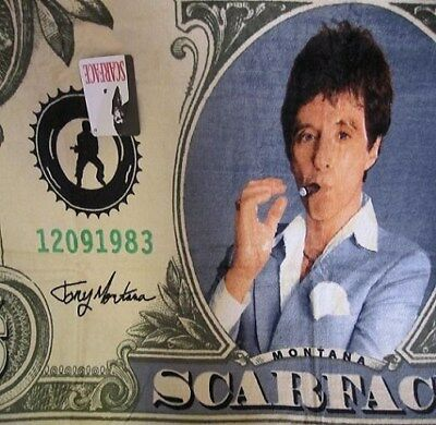 New Scarface Tony Montana Beach Bath Towel Dollar Bill Gangster My Little Friend