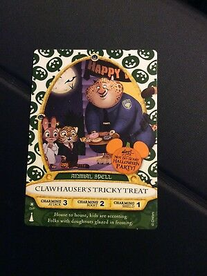 Sorcerers Of The Magic Kingdom Halloween Party Card Clawhauser Tricky Treat