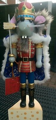 Christmas Nutcracker Mouse King Soldier Limited Edition! Large 38Cms Bnwt