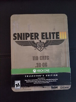 Sniper Elite III Collector's Edition (XBOX ONE) NEW SEALED