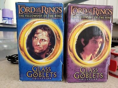 Lord of the Rings Glass Goblets Frodo & Strider Aragorn Collectible Burger King