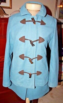 Lot of 2: GAP Ladies Wool Blend Powder Blue Coat & Matching Skirt!  XS / 0