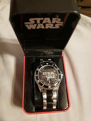 mens star wars watch accutime disney swm406bx