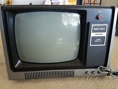 Very Clean Working TRS-80 Video Display Monitor Radio Shack w/Original Manual