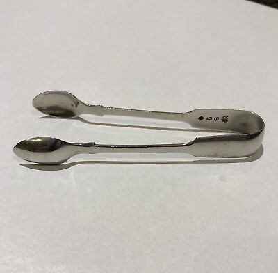 1812 GEORGE III - IRISH - SOLID SILVER - SUGAR TONGS  Good Condition Georgian