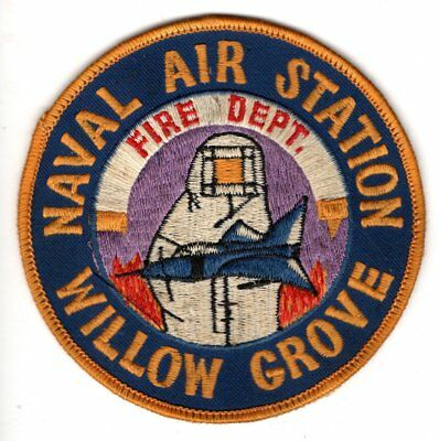 Willow Grove Naval Air Station Fire Department Patch Montgomery County, PA