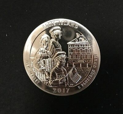 2017 Ellis Island America the Beautiful New Jersey 5 ounce silver quarter