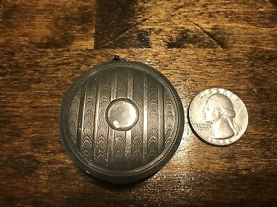 Elgin American Manufacturing Sterling Silver Pill Box Compact
