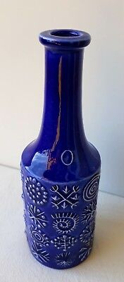 Totem Blue Portmeirion Susan Williams Ellis oil bottle without stopper.