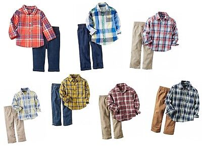 Carter's Baby Boy's 2-Piece Button Shirt and Pant Set - NEW/NWT