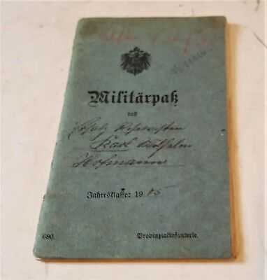 WW1 German Army Militarpass book