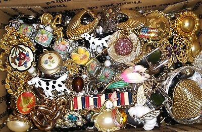 Huge Vintage To Now Junk Drawer Jewelry Lot Estate Find Unsearched Untested #831