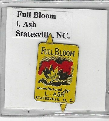 Tobacco Tag I. Ash Co. Statesville, NC. Full Bloom #1