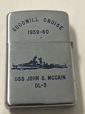 Goodwill Cruise 1959-1960 USS John McCain DL3 Map Of Asia Pacific Prince Lighter