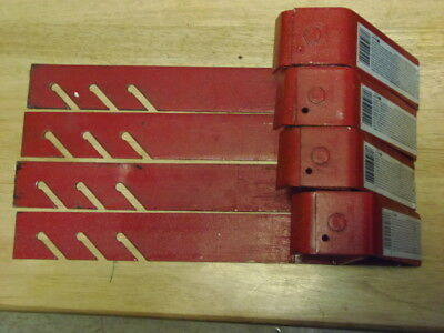 Lot of 4 Qual-Craft Model 2502 Roofing Brackets Red 6-Inch 90 Degree