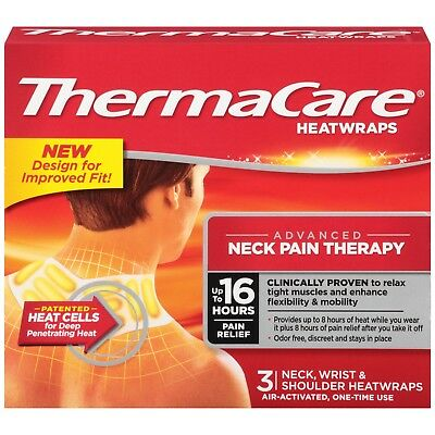 New ThermaCare Advanced Neck Pain Therapy (3 Count) Heatwraps