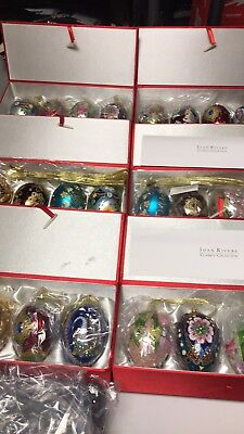 Joan Rivers Classic Collection 24 Egg Christmas Ornament Set 6 Boxes Full