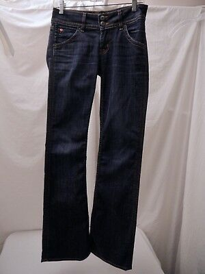 Hudson Low Rise Boot Cut Dark Wash Jeans Size 26 Inseam 32 Style W170DHA  NICE!