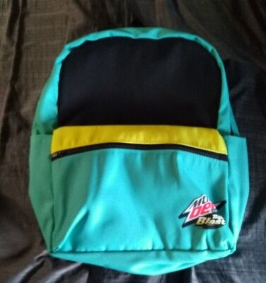 Mountain Dew Baja Blast Canvas Backpack New, No Tags