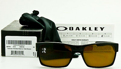f66e5c0d51fb1 ... clearance new oakley twoface 9189 03 polished black frame w dark bronze  authentic two face c1093