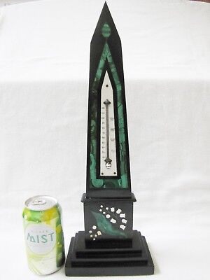 Antique French Art Deco 1920s  Marble Thermometer.